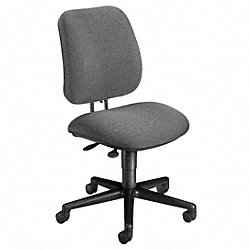 Task Chair, Gray, 15-1/2 to 20-1/2 In