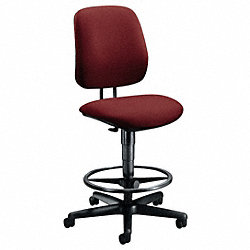 Task Chair, Burgundy, 22-1/2 to 32-1/2 In