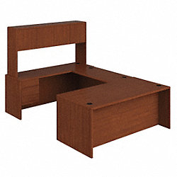 Desking, 108 In.D, Henna Cherry