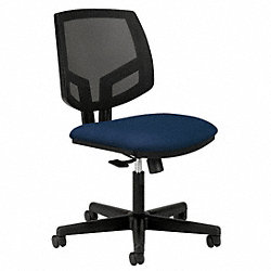 Task Chair, Navy, 18-1/4 to 22-3/8 In