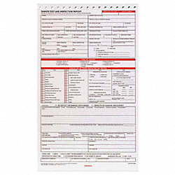 Tanker Test/Inspection Report, 3 Ply