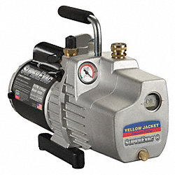 Evacuation Pump, 11.1 cfm, 1/2 HP, 6 ft.