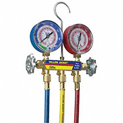 Manifold Gauge and Hose Set, 60 In Hoses