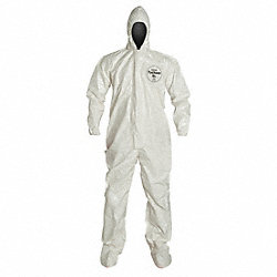 Hooded Tychem(R) SL, White, Socks, 5XL, PK 6