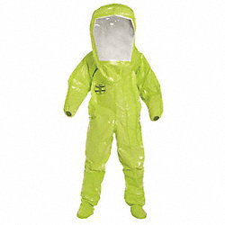 Encapsulated Suit, Level B, Front, Lime, 4XL