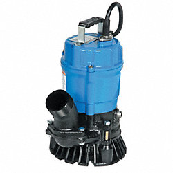 Submersible Trash Pump, 1 HP, 115V