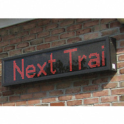 LED Message Display, 1-Mod, 13 x 31 in, Red