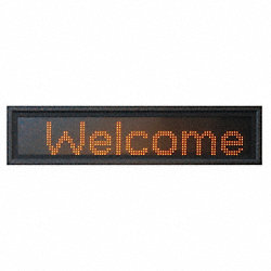 LED Message Display, 3-Mod, 13x31 in, Amber