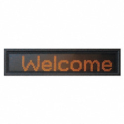 LED Message Display, 3-Mod, 13 x 31 in, Red