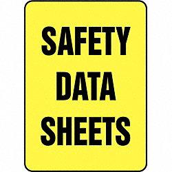 SDS Safety Data Sheet Sign