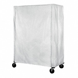 Cart Cover, 72x24x74, White, Polyester