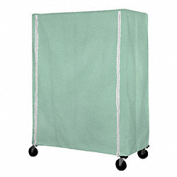Cart Cover, 48x21x54, Green, Nylon, Zipper