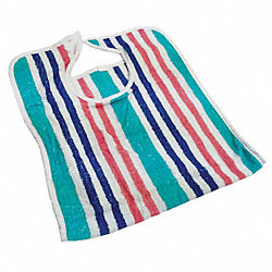 Terry Bib w/Close Strap, MultiStripe, PK12