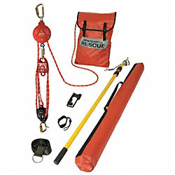 Rescue System w/ BackUp Brk, Cable 25 ft