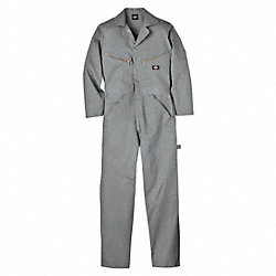 Long Sleeve Coveralls, Cotton, Gray, M