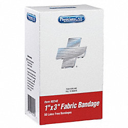 Bandage, Fabric, 1 x 3 In, PK 50