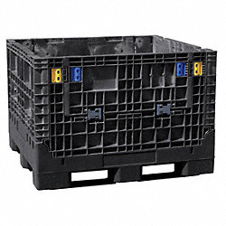 Bulk Container, 48x45x34 in., Black
