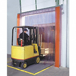 Strip Door, 8W x 10H, Low Temp Ribbed PVC