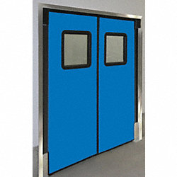 Door, Swinging, 3 ft x 7 ft, Royal Blue