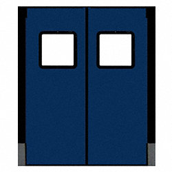 Door, Swinging, 3 ft x 7 ft, Navy