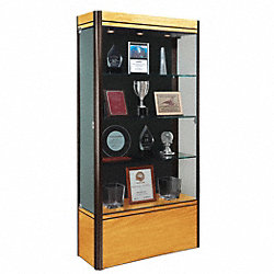 Display Case, 72x36x14, Light Maple