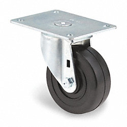 Swivel Plate Caster, 300 lb, 4 In Dia