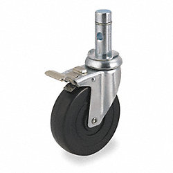 Swivel Stem Cstr w/Totl Lock, 5 In, 240 lb
