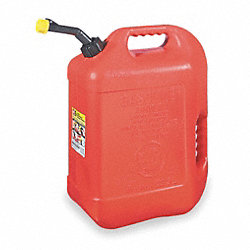 Spill Proof Gas Can, 6 Gal., Red, Self Vent