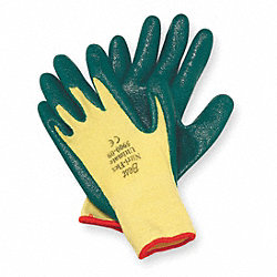 Cut Resistant Gloves, Yellow/Green, L, PR