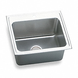 Drop-In Sink, SS, 18 Gauge, 25 In L