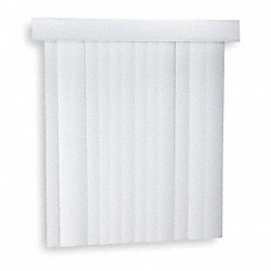 Vertical Blinds, 84 X 78 In, White