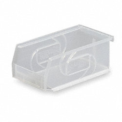 Stack & Hang Bin, W 4 1/8, D 7 3/8, Clear