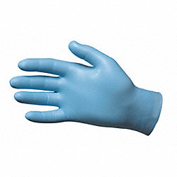 Disposable Gloves, Nitrile, M, Blue, PK50