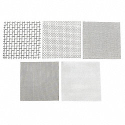 Wire Cloth Assortment, SS, 6 Pc, 6 x 6 In