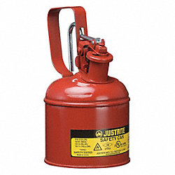 Type I Safety Can, 1/4 gal., Red, 8-1/4In H