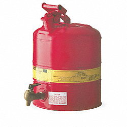 Type I Faucet Safety Can, 5 gal., Red