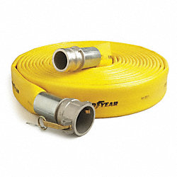 Discharge Hose, 3 In ID x 50 Ft, 200 PSI