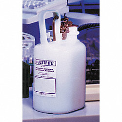 Disposal Can, 1 Gal., White, Polyethylene