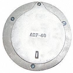 Door Port, 4 In ID, 5 In OD, Aluminum