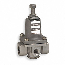 Pressure Regulator, 3Way, 1/2 In, 50-175PSI