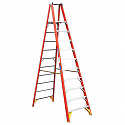 Platform Stepladder, 37-3/8 In. W, 300 lb.