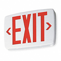 Exit Sign w/ Battery Back Up, 0.71W, Red