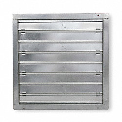 Damper, Motorized, 36 In, Galvanized Steel