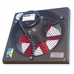 Exhaust Fan, 18 In, 460 V, 3790 CFM