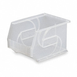 Stack & Hang Bin, W 8 1/4, D 10 3/4, Clear