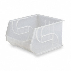Stack & Hang Bin, W 16 1/2, D 18, Clear