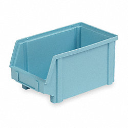 Stack & Hang Bin, W 5 3/4, D 9 1/2, Blue