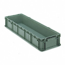 Straight Wall Long Box, H 7 1/2, D 48, Gray