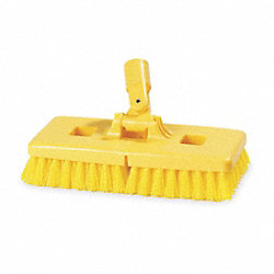 Swivel Scrub Brush, 9 In Blck, 1 In Trm