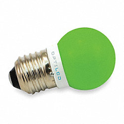 LED Light Bulb, A12, 515-535nm, Green, PK10